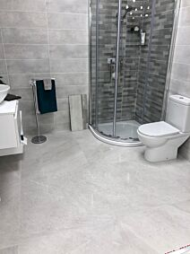 Lily Ice Grey 900 x 900 Porcelain Tile Lappato Finish. This beautiful tile is suitable for any area in the home.
