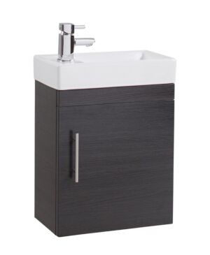 Lily Black Gloss Single Door 400mm Basin and Unit