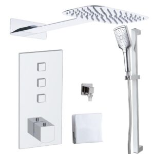 Matteo Doccia 12 Triple Thermo Concealed Touch Control & Kit