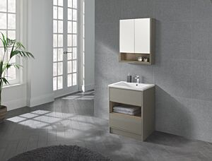 Lucca 600 Floor Standing Unit & Basin Taupe Lily Bain