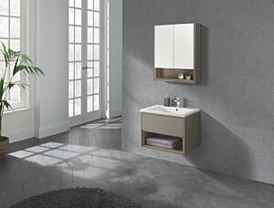 Lucca 600 Wall Hung Unit & Basin Taupe Lily Bain