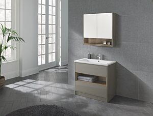 Lucca 800 Floor Standing Unit & Basin Taupe Lily Bain