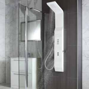 Patos Square Stainless Steel Concealed Thermo Shower Column WH