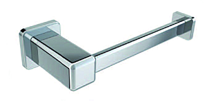 The Venizia toilet roll holder is a brass acccessory with a polished chrome finish suitable for any bathroom.Lily Bain