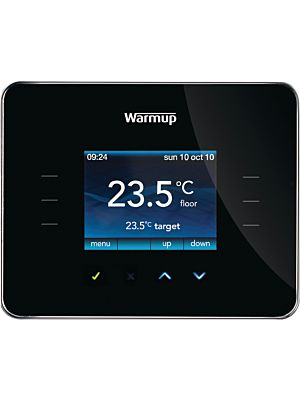 Warmup 3iE Energy Monitor Piano Black Thermostat