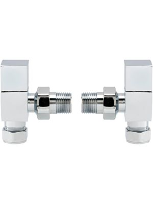 Angle Square Head Radiator Valve Set