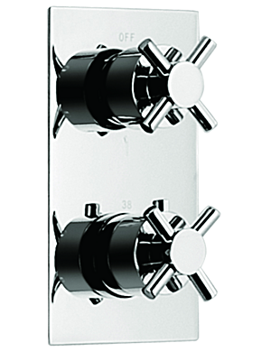 Crosshead Concealed Thermostatic Valve With 2 Way Diverter