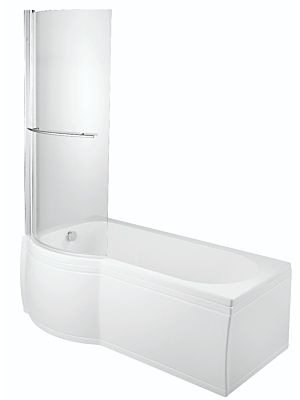 BTL P Shape Shower Bath Screen (Suits All P Shape Baths)