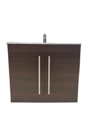 Purity 900 Chestnut Floor Standing Unit & Basin