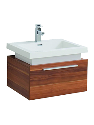 Atlas 750 Single Drawer Vanity Unit & Basin Plum