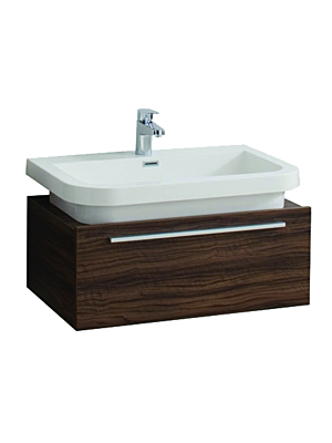 Atlas 750 Single Drawer Vanity Unit & Basin Walnut