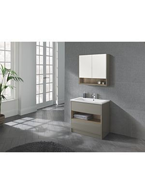 Lucca 800 Floor Standing Unit & Basin in Taupe
