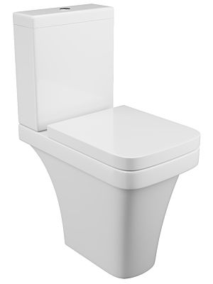 Rivelin Comfort Height Close Coupled Pan, Cistern and Seat