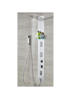 Celilo Square Stainless Steel Recessed Thermo Shower Column