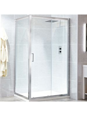 Spirit 8mm Framed Single Sliding Door 120cm