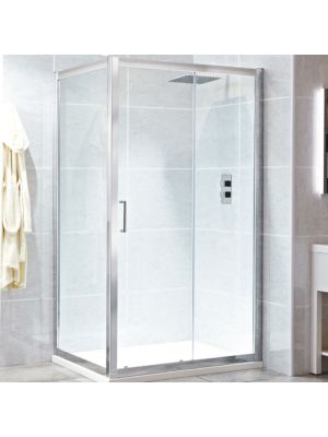 Spirit 8mm Framed Single Sliding Door 140cm