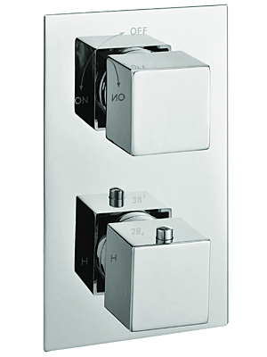 Square Concealed Thermostatic Valve With 2 Way Diverter
