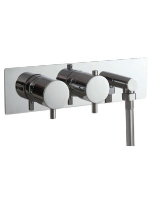 Concealed Twin Valve - Dual Function (inc Outlet Elbow) MP Round