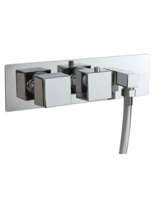 Concealed Twin Valve - Dual Function (inc Outlet Elbow) MP SQ
