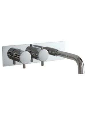 Concealed Twin Valve - Dual Function (inc Bath Spout) MP Round