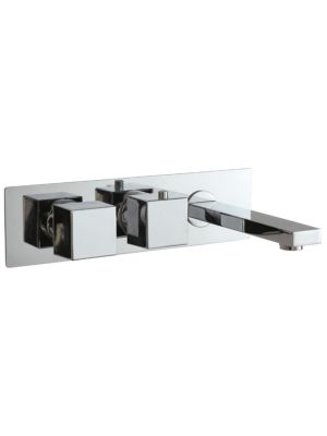 Concealed Single Func. Thermo Twin Valve (inc Bath Spout) MP SQ