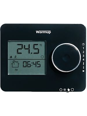 Warmup Tempo Digital Piano Black Programmable Thermostat