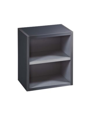 Malmo Gloss Graphite Wall Mounted Open Storage Unit