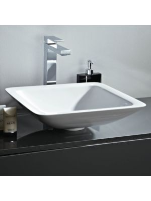 Mineral Cast Square Counter Top Basin (No Overflow)