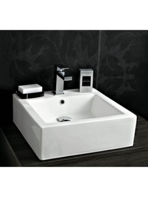 Ceramic Square Counter Top & Wall Hung Basin