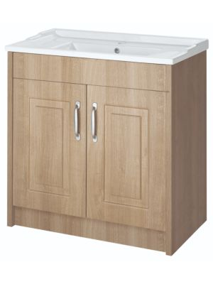 York 800mm Floor Standing Unit & Basin - White