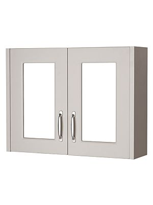 York 800mm Mirror Cabinet - Grey