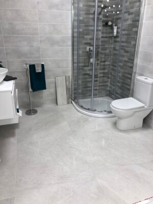 Lily Ice Grey 600 x 600 Porcelain Tile Lapato Finish (Price M2)