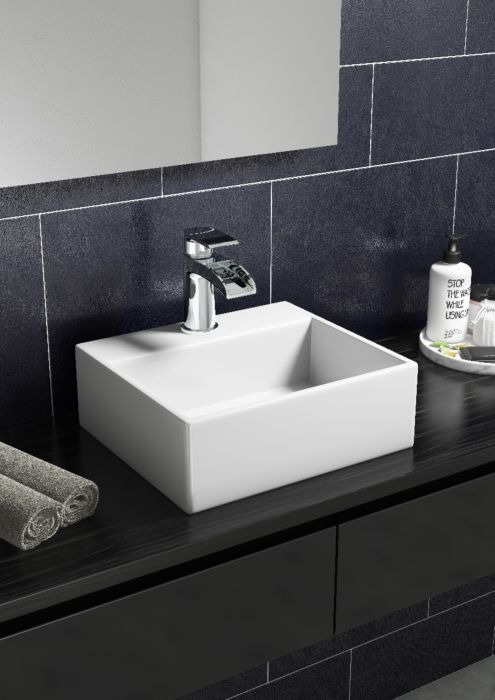 Wall Hung Sit On Small Cloakroom Basin