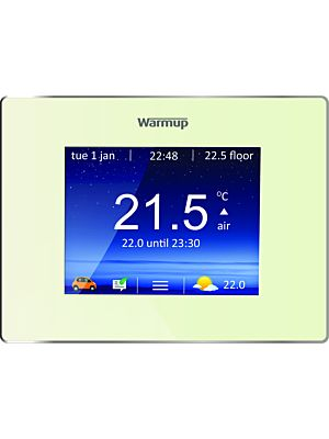Warmup 4 i E Smart Wi-Fi Thermostat Bright Porcelain Finish