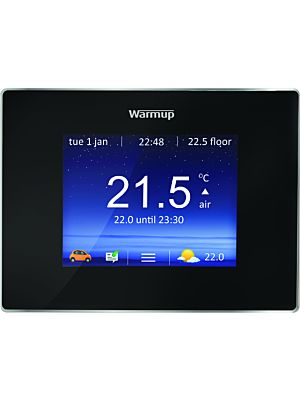 Warmup 4 i E Smart Wi-Fi Thermostat Onyx Black Finish