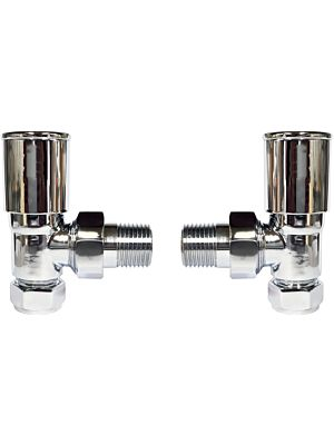 Angle Round Head Radiator Valve Set