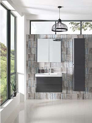Aurora 800mm Mirrored Cabinet