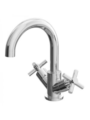 Lily 'C' Basin Mono & Bath Shower Mixer Chrome Bundle