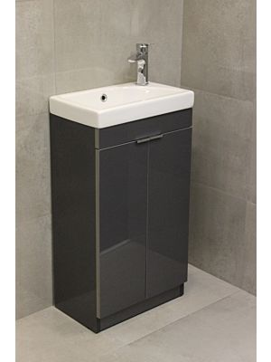 Faro 450mm Unit & Basin - Dark Grey