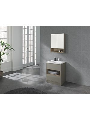 Lucca 600 Floor Standing Unit & Basin in Taupe