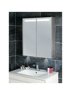 Mercury Twin Door Mirror Cabinet