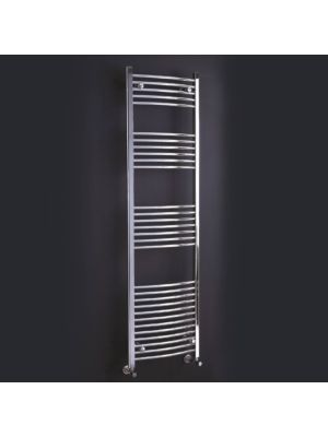 Flavia Pre-Filled Electric Chrome Towel Rail 1200mm x 600mm