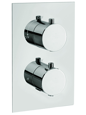 Square Concealed Thermostatic Valve With 3 Way Diverter