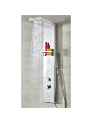 Iguazu Round Stainless Steel Thermo Shower Column