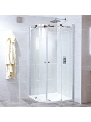 Motion 8mm Frameless Twin Quadrant Door 100 x 100