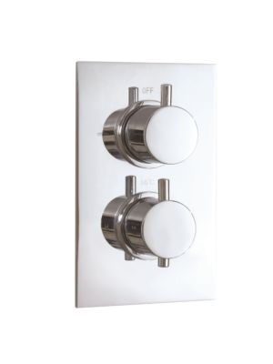 Twin Valve - Dual Func. Concealed Thermo Shower Valves MP RND