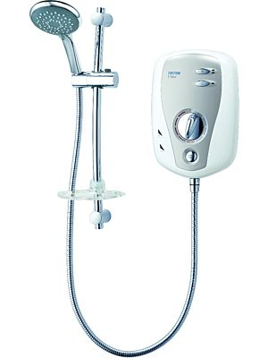 Triton T100XR Slimline White/Chrome Electric Shower 9.5kw