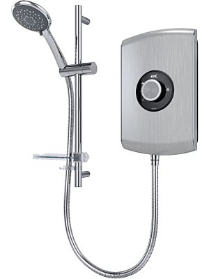 Triton Amore Electric Shower 9.5kw Brushed Steel