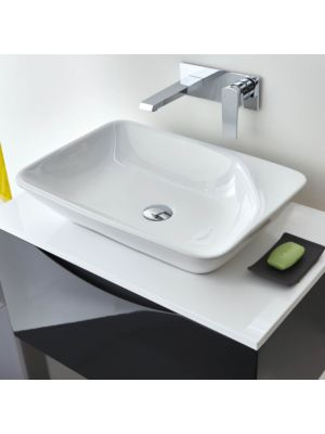 Rectangular Ceramic Counter Top Basin (No Overflow, 0 Taphole)